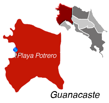 Playa Potrero Map