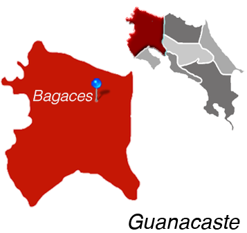 Map of Bagaces, Costa Rica