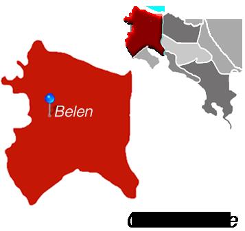 Map of Belen, Costa Rica