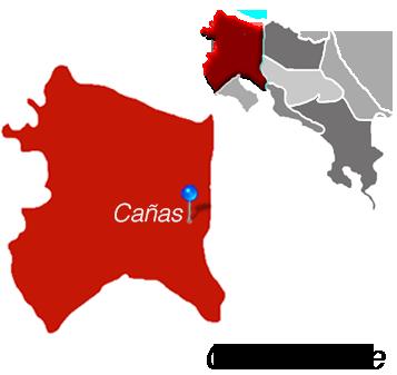 Map of Cañas