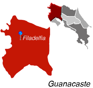 Map of Filadelfia, Costa Rica