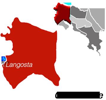 Langosta Town Map