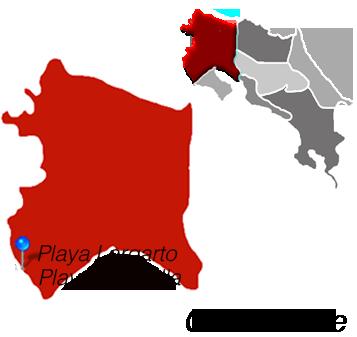 Map of Playa Marbella, Costa Rica