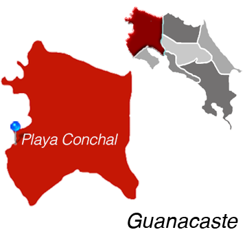 Map of Playa Conchal