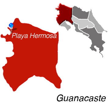 Map of Playa Hermosa