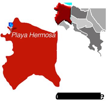Playa Hermosa Town Map