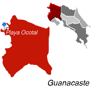 Map of Playa Ocotal, Costa Rica