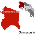 Playas del Coco Toen Map