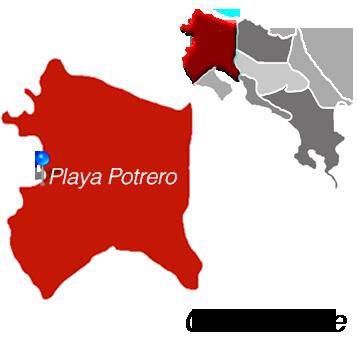 Playa Potrero Town Map