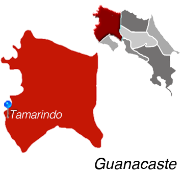Map of Tamarindo, Costa Rica