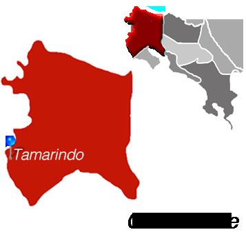 Map of Tamarindo, Costa Rica
