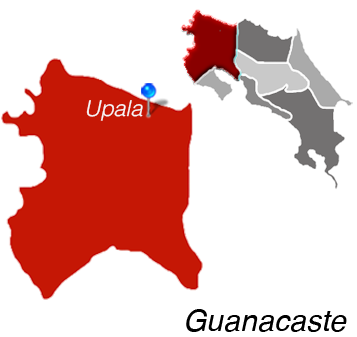 Map of Upala, Costa Rica