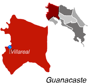 Map of Villareal, Cost Rica