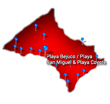 6. Nicoya   Playa Bejuco Playa San Miguel Playa Coyote