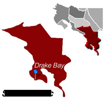 Map of Drake Bay, Costa Rica