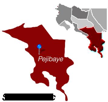 Map of Pejibaye, Costa Rica