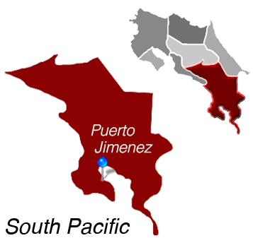 Map of Puerto Jimenez, Costa Rica