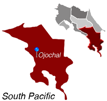 Map of Ojochal, South Pacific, Costa Rica